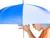 parasol gniecie